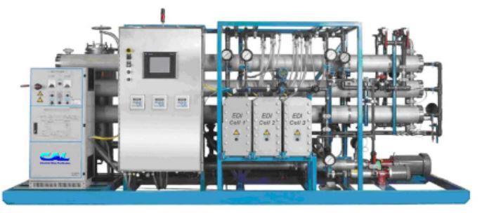 ترکیب ممبران RO و دستگاه تصفیه آب EDI